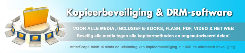 Kopieerbeveiliging en Rights Management (DRM) Software Voor Alle Media